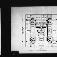 T. Lam, Louis Pacheco and Wong entry City Hall and Square Competition, Toronto, 1958, lower main floor