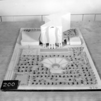 Anthony  J. Varnas entry, City Hall and Square Competition, Toronto, 1958, architectural model