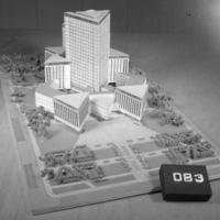 Alan Graham entry, City Hall and Square Competition, Toronto, 1958, architectural model
