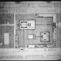 Manuel D. Dumlao entry City Hall and Square Competition, Toronto, 1958, main plaza level floor plan