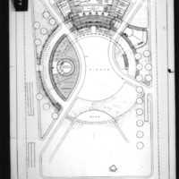 Charles B. K. Van Norman entry City Hall and Square Competition, Toronto, 1958, first floor plan