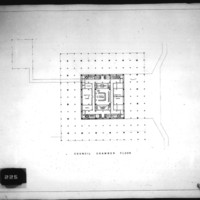 Frank Mikutowski entry City Hall and Square Competition, Toronto, 1958, council floor plan