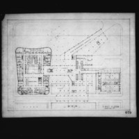Anthony J. Varnas entry City Hall and Square Competition, Toronto, 1958, first floor plan
