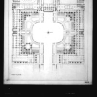 L. Kurpatow entry City Hall and Square Competition, Toronto, 1958, first floor plan