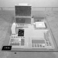 Bregman & Hamann entry, City Hall and Square Competition, Toronto, 1958, architectural model