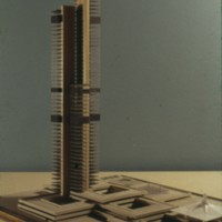 D. R. Dobereiner entry, City Hall and Square Competition, Toronto, 1958, architectural model