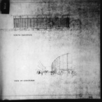 Michael Bach entry City Hall and Square Competition, Toronto, 1958, north elevation and view of concourse