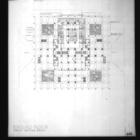 Wilhelm Holzbauer entry City Hall and Square Competition, Toronto, 1958, ground floor and public access areas floor plan