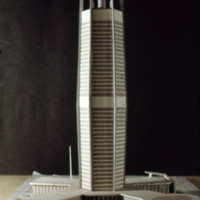 V. Radimski and E. Steflicek entry, City Hall and Square Competition, Toronto, 1958, architectural model