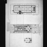 D. R. McMullin entry City Hall and Square Competition, Toronto, 1958, first floor plan