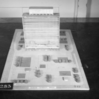 Dermot O'Toole entry, City Hall and Square Competition, Toronto, 1958, architectural model
