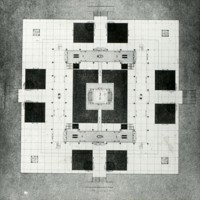 Perkins & Will entry, City Hall and Square Competition, Toronto, 1958, floor plan