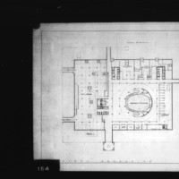 T. R. Feinberg entry City Hall and Square Competition, Toronto, 1958, first mezzanine floor plan