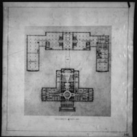 Cass Gilbert Jr. entry City Hall and Square Competition, Toronto, 1958, second floor plan