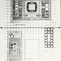 David Horne entry City Hall and Square Competition, Toronto, 1958, floor plan