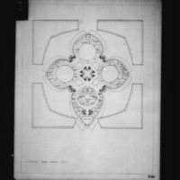 Alain Bourbonnais entry City Hall and Square Competition, Toronto, 1958, plan of government area upper level