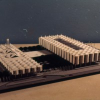 D. R. McMullin entry, City Hall and Square Competition, Toronto, 1958, architectural model