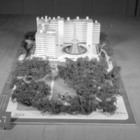 T. R. Feinberg entry, City Hall and Square Competition, Toronto, 1958, architectural model