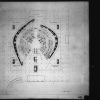 Viljo Revell entry City Hall and Square Competition, Toronto, 1958, second floor plan
