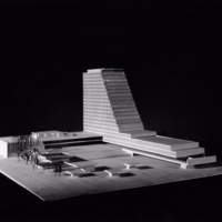 Martha and Ragnar Ypya entry City Hall and Square Competition, Toronto, 1958, architectural model