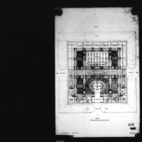 R. G. Smith entry City Hall and Square Competition, Toronto, 1958, first floor plan