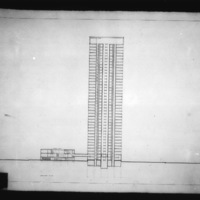 Dobush and Stewart entry City Hall and Square Competition, Toronto, 1958, section