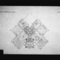 Josef Havlicek entry City Hall and Square Competition, Toronto, 1958, first floor plan