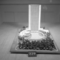 Charles B. K. Van Norman entry, City Hall and Square Competition, Toronto, 1958, architectural model