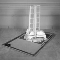 A. Bourbonnais  entry, City Hall and Square Competition, Toronto, 1958, architectural model
