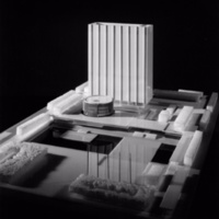 John C. Parkin entry, City Hall and Square Competition, Toronto, 1958, architectural model