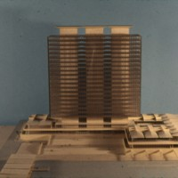 A-R5-03 - Halldor Gunnlogsson & Jorn Nielsen entry_City Hall and Square Competition_Toronto_1958_architectural model.jpg