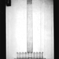 Michael Shewan entry City Hall and Square Competition, Toronto, 1958, section drawing