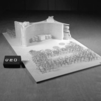 Sven Backstrom entry, City Hall and Square Competition, Toronto, 1958, architectural model
