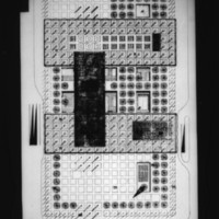 D. R. McMullin entry City Hall and Square Competition, Toronto, 1958, public access area