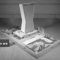 Raphael Galvao Jr. entry, City Hall and Square Competition, Toronto, 1958, architectural model