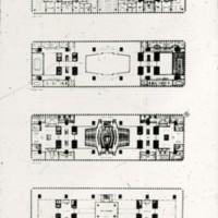 A-R3-18 - William B Hayward entry City Hall and Square Competition_Toronto_1958_4 floor plans.jpg