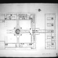 Jack D. Annett entry City Hall and Square Competition, Toronto, 1958, second floor plan