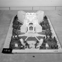 C. C. Wilkie entry, City Hall and Square Competition, Toronto, 1958, architectural model