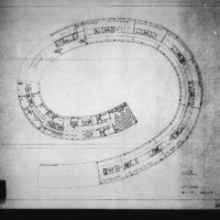 Paul Hamilton and John Bicknell entry City Hall and Square Competition, Toronto, 1958, sixth floor plan