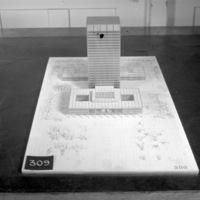 Rother, Bland, Trudeau entry, City Hall and Square Competition, Toronto, 1958, architectural model