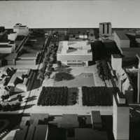 I. M. Pei & Associates entry City Hall and Square Competition, Toronto, 1958, architectural model
