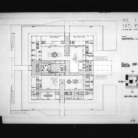 Nobuo Hozumi entry City Hall and Square Competition, Toronto, 1958, first floor area