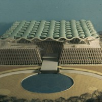 A-R5-02 - John H Andrews entry_City Hall and Square Competition_Toronto_1958_architectural model.jpg