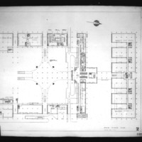 Jack D. Annett entry City Hall and Square Competition, Toronto, 1958, main floor plan