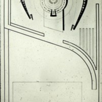 Viljo Revell entry, City Hall and Square Competition, Toronto, 1958, architectural plan, Stage two