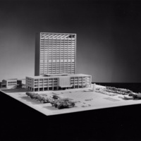 Leslie Forster entry, City Hall and Square Competition, Toronto, 1958, architectural model