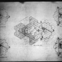 Leslie P. Cruise Jr. entry City Hall and Square Competition, Toronto, 1958, floor plans