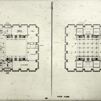 A-R3-22 - Frank Mikutowski entry_City Hall and Square Competition_Toronto_1958_fourth and fifth floor plans.jpg