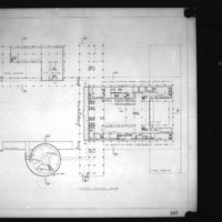 Keith Spratley and Stanley Heinonen entry City Hall and Square Competition, Toronto, 1958, first floor plan