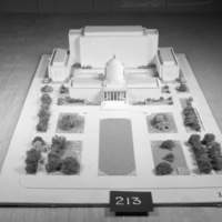 Cass Gilbert Jr. entry, City Hall and Square Competition, Toronto, 1958, architectural model